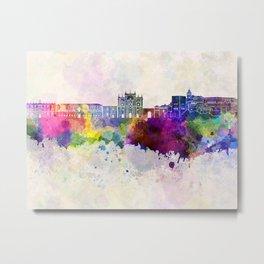 Granada skyline in watercolor background Metal Print