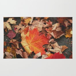 crimson leaves Rug