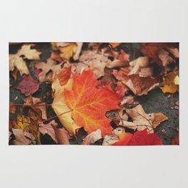 crimson leaves Rug