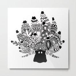 Shaun the sheep Nudibranch in black Metal Print