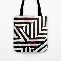 striped Tote Bags featuring Striped by ST STUDIO