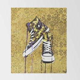 Animal Print Tennis Shoes Take a Walk On The Wild Side Throw Blanket