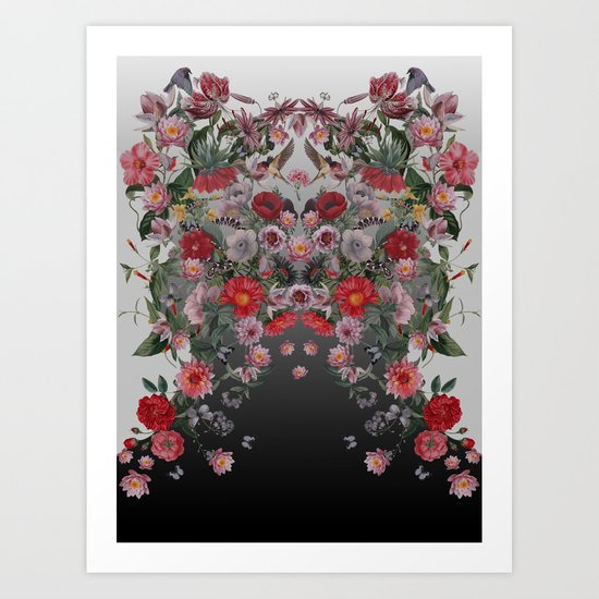Flowers and Animals Art Print