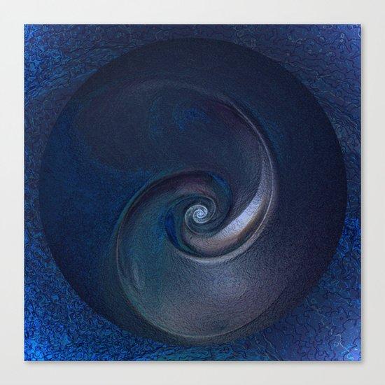 Sea Shell in Dark Blue Canvas Print