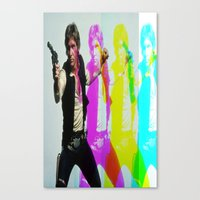 han solo Canvas Prints featuring Han Solo by Iotara
