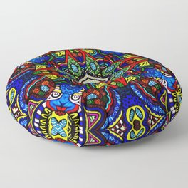 Egyptian Cobra Guardians Floor Pillow