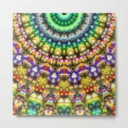 Colorful 3D Abstract Sun Metal Print