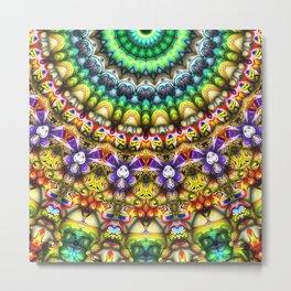Colorful 3D Abstract Sun Metal Print
