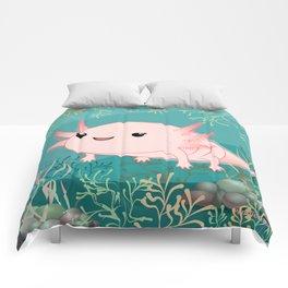 Axolotl baby kawaii Comforters
