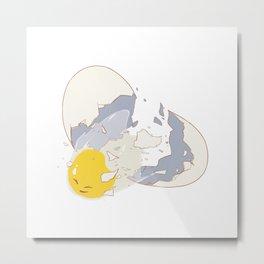 Break Free Egg Metal Print