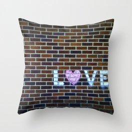 Love On the Bricks 2 Throw Pillow