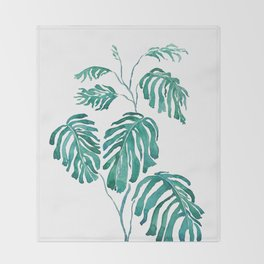 Monstera painting 2017 Throw Blanket