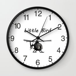 MH-6 Little Bird Helicopter Wall Clock