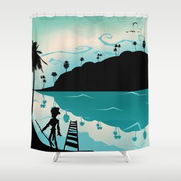 Island discovery Shower Curtain