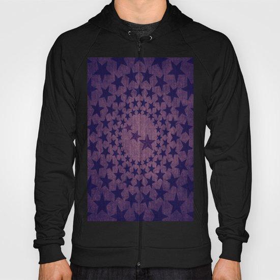 Purple stars decorative pattern Hoody