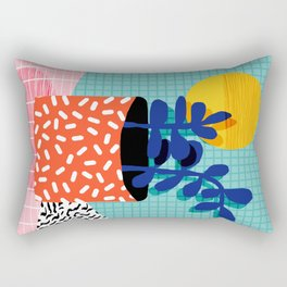 No Way - wacka potted house plant indoor cute hipster neon 1980s style retro throwback minimal pop Rectangular Pillow