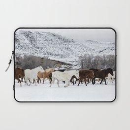Carol Highsmith - Wild Horses Laptop Sleeve