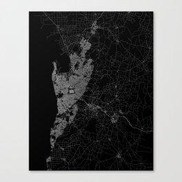 Adelaide map australia Canvas Print