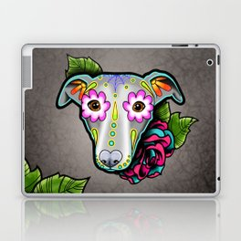 Greyhound - Whippet - Day of the Dead Sugar Skull Dog Laptop & iPad Skin