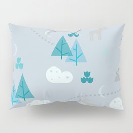 Winter Forest Mountains And Trees Pillow Sham
