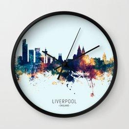 Liverpool England Skyline Wall Clock
