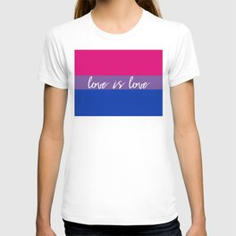 Love is love bisexual flag T-shirt