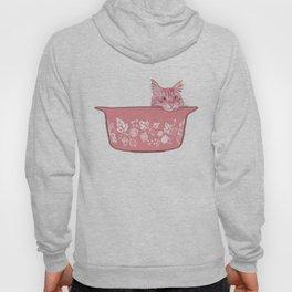 Cat in Bowl #1 Hoody