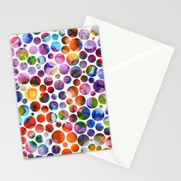 Dots on Painted Background 5 Stationery Cards