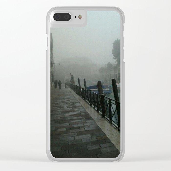 Foggy Venice Clear iPhone Case