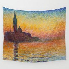 Claude Monet San Giorgio Maggiore at Dusk (Venice) Wall Tapestry