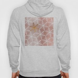 Elegant Geometric Gold Snowflakes Holiday Pattern Hoody