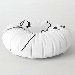 kiss me girl Floor Pillow