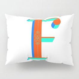 Letter F Pillow Sham