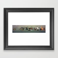 Lord of the rings Chase Framed Art Print