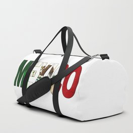 Mexico Font with Mexican Flag Duffle Bag
