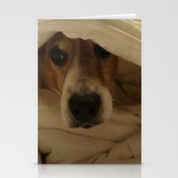 jack russell Stationery Cards featuring Jack Russell by Mel Forshee
