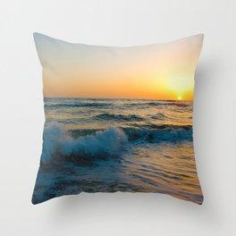 Ocean Sunset 4 Throw Pillow