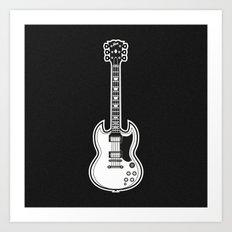 Gibson SG Art Print