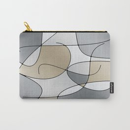 ABSTRACT CURVES #1 (Grays & Beiges) Carry-All Pouch
