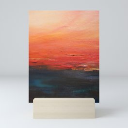 Fiery night Mini Art Print