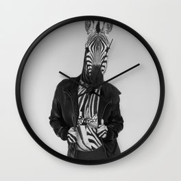 Zebra Madness Wall Clock