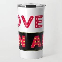 Love is On Air Travel Mug