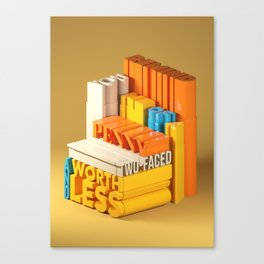 Typographic Insults #7 Canvas Print
