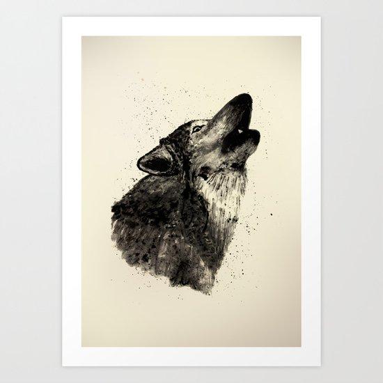 Wolf Ink Art Print