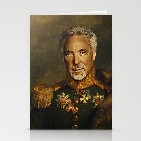 Sir Tom Jones - replaceface Stationery Cards