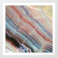 Pastel Onyx Marble Art Print