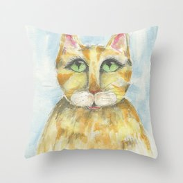 Whisper the Cat Throw Pillow
