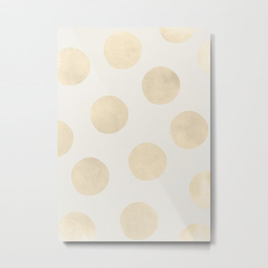 Gold Polka Dots Metal Print