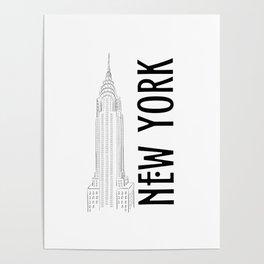 New York Chrysler Poster