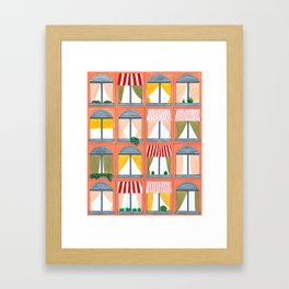 Peach Building Framed Art Print
